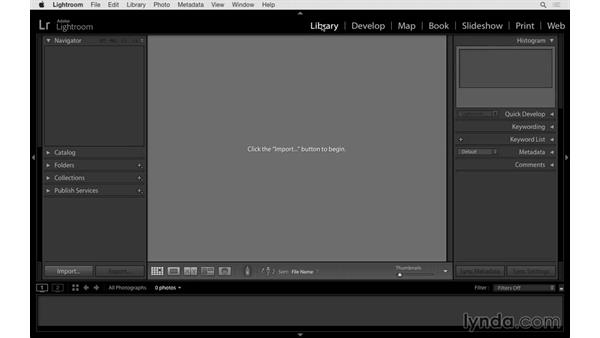 Getting familiar with the Lightroom interface: Lightroom 6 Essential Training
