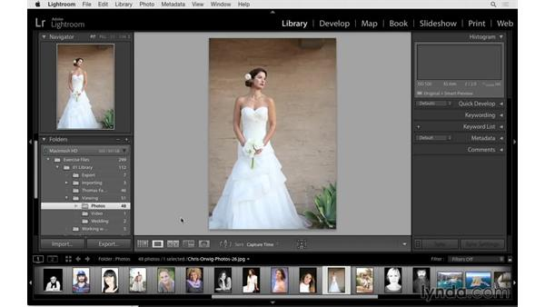 Renaming and moving folders and photographs: Lightroom 6 Essential Training