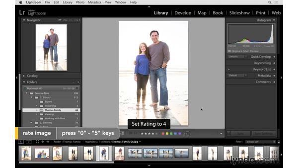 Adding flags, stars, and labels more quickly: Lightroom 6 Essential Training