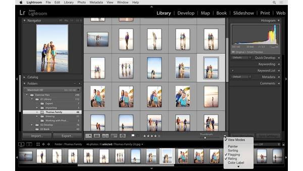 Rating and ranking in the Grid and Full Screen modes: Lightroom 6 Essential Training
