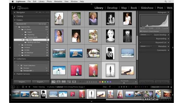 Using smart and targeted collections: Lightroom 6 Essential Training