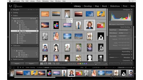 Moving and renaming collections and using collection sets: Lightroom 6 Essential Training