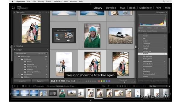 Filtering based on keywords: Lightroom 6 Essential Training