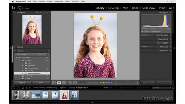 Editing a RAW file in Photoshop: Lightroom 6 Essential Training