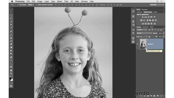 Opening an image as a Smart Object in Photoshop: Lightroom 6 Essential Training