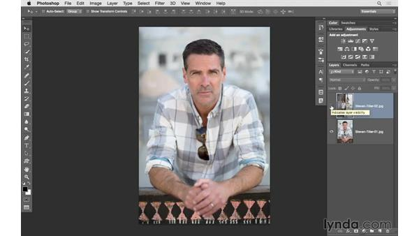 Including multiple images as layers in Photoshop: Lightroom 6 Essential Training