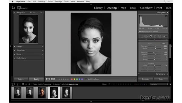 Synchronizing adjustments to multiple images: Lightroom 6 Essential Training