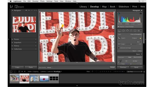 Cropping your photographs: Lightroom 6 Essential Training