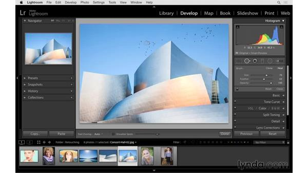 Removing spots from dust on lens: Lightroom 6 Essential Training