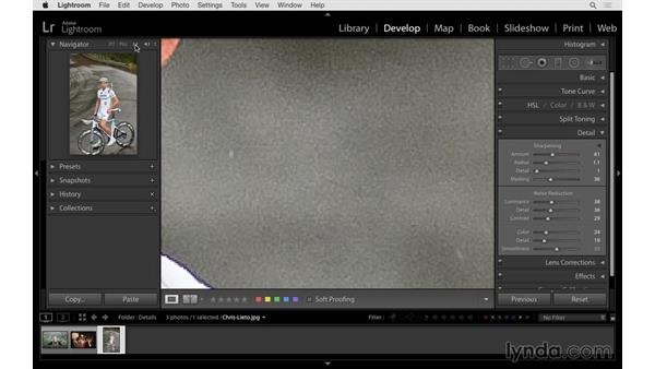Reducing digital noise: Lightroom 6 Essential Training