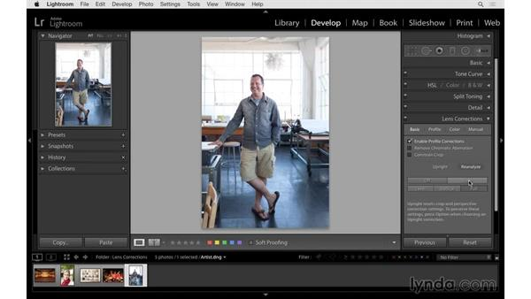 Improving an environmental portrait with Upright: Lightroom 6 Essential Training