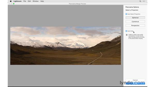 Creating a panoramic image: Lightroom 6 Essential Training