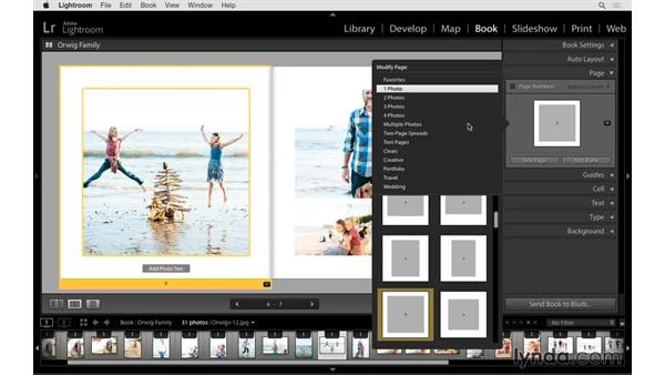 Customizing the page layout: Lightroom 6 Essential Training