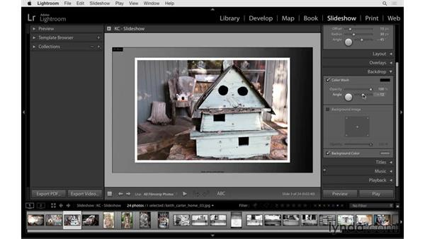 Adding a border and changing the background: Lightroom 6 Essential Training