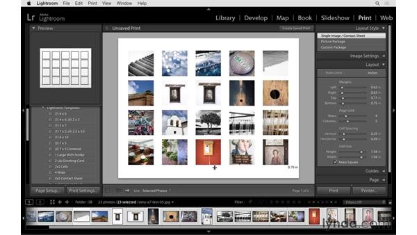 Page setup and print settings: Lightroom 6 Essential Training