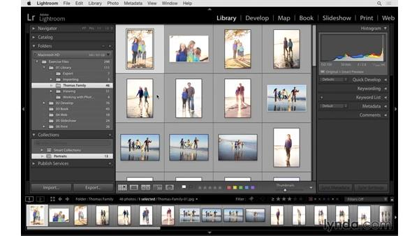 Creating a collection to group images together: Lightroom CC Essential Training (2015)