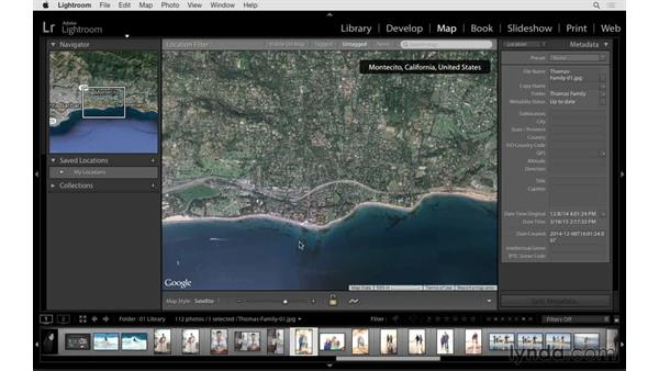 Working with the Map module: Lightroom CC Essential Training (2015)