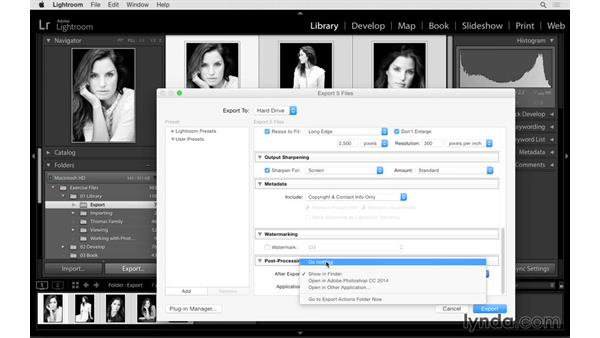 Creating and using export presets: Lightroom CC Essential Training (2015)