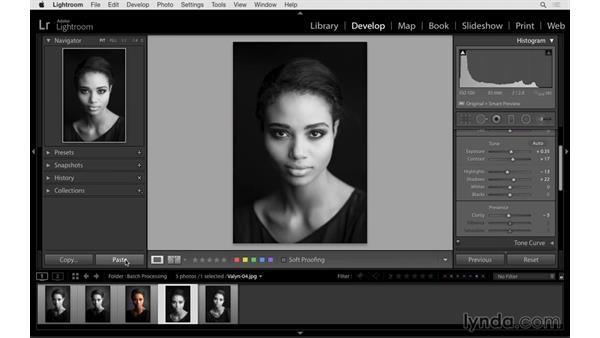 Synchronizing adjustments to multiple images: Lightroom CC Essential Training (2015)