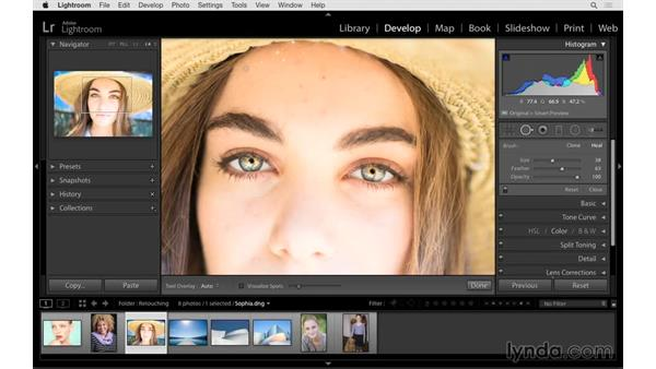 Cleaning up distractions: Lightroom CC Essential Training (2015)