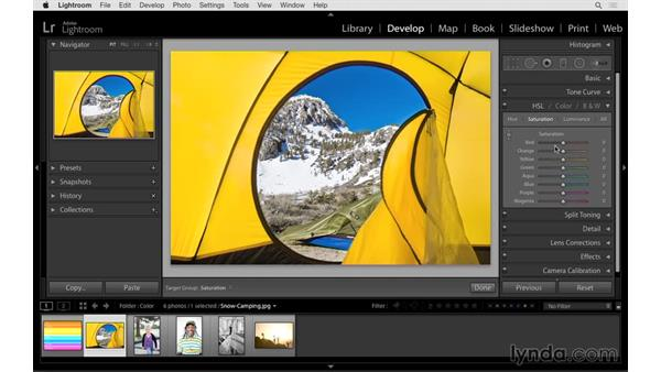 Fine-tuning color with the HSL controls: Lightroom CC Essential Training (2015)