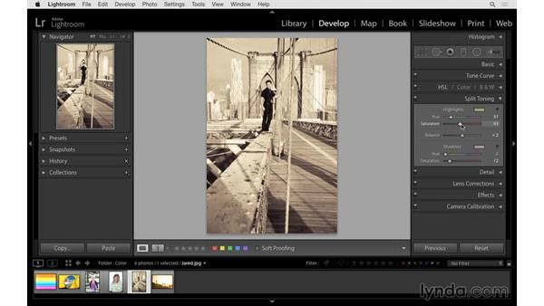Creating a split-toned image: Lightroom CC Essential Training (2015)