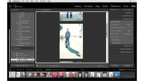 Customizing the web gallery: Lightroom CC Essential Training (2015)