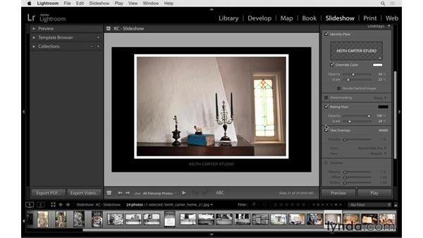 Adding type and title slides: Lightroom CC Essential Training (2015)