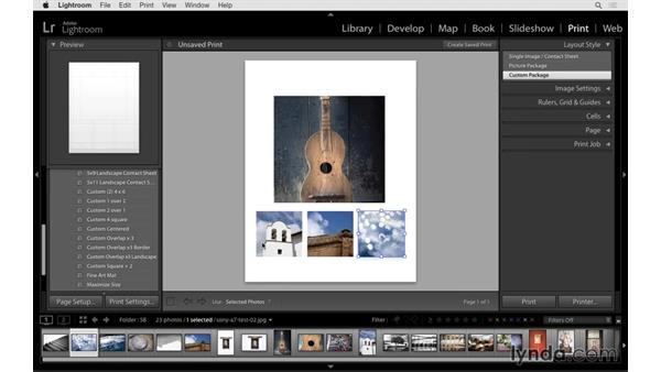 Using print templates: Lightroom CC Essential Training (2015)