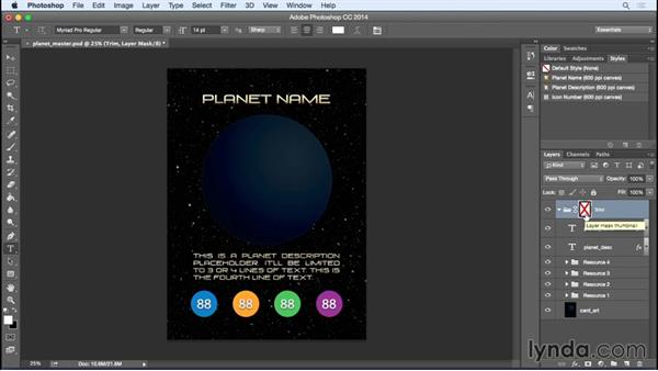 Understanding the card template: Photoshop Variables: Game Production Art