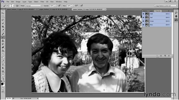 Using an FFT plugin to remove paper texture: Photo Restoration Techniques: Removing Paper Texture