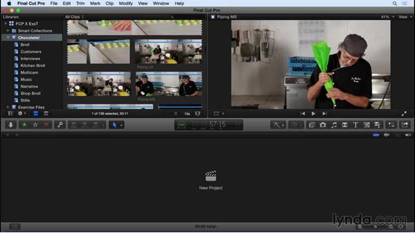 Taking a tour of the FCP X interface: Final Cut Pro X 10.2 Essential Training