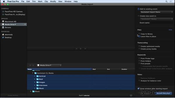 Ingesting media: Final Cut Pro X 10.2 Essential Training