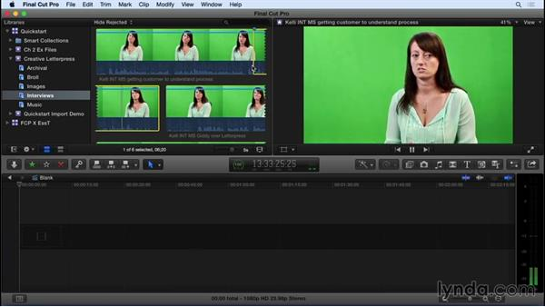 Organizing and selecting shots: Final Cut Pro X 10.2 Essential Training