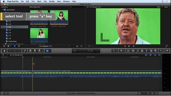 Basic editing and refining: Final Cut Pro X 10.2 Essential Training