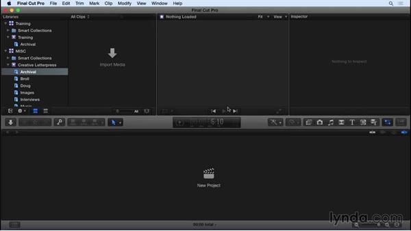 Basic library and event management: Final Cut Pro X 10.2 Essential Training