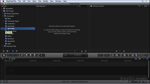 Performing searches and creating Smart Collections: Final Cut Pro X 10.2 Essential Training