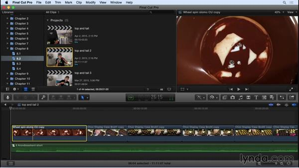 Montage editing with Top and Tail edits: Final Cut Pro X 10.2 Essential Training