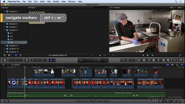 Working with markers: Final Cut Pro X 10.2 Essential Training