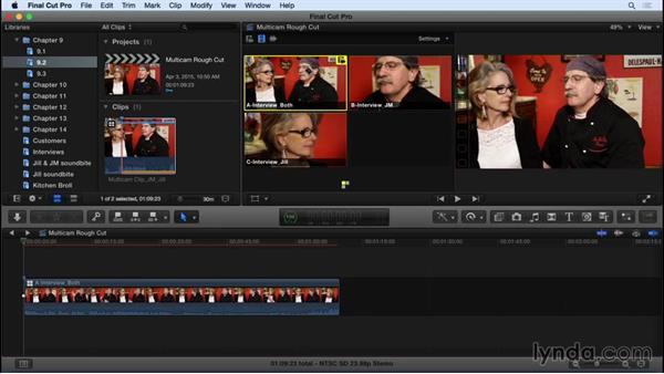 Performing a multicam edit: Final Cut Pro X 10.2 Essential Training