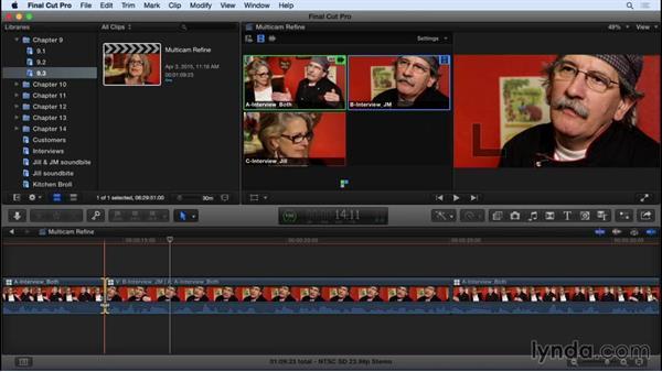 Refining the multicam edit: Final Cut Pro X 10.2 Essential Training