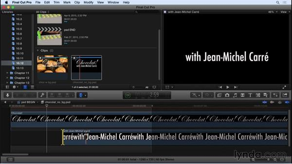 Working with layered Photoshop files: Final Cut Pro X 10.2 Essential Training