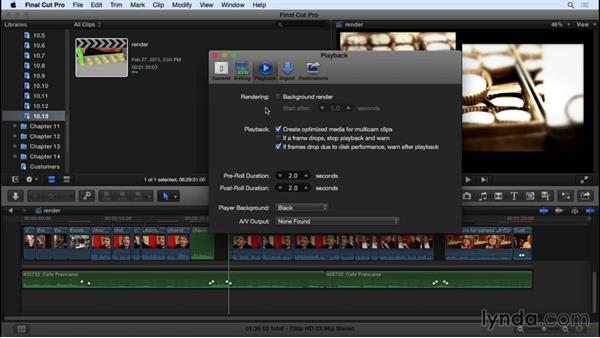 Understanding rendering options and preferences: Final Cut Pro X 10.2 Essential Training