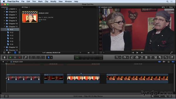 Analyzing footage for problems: Final Cut Pro X 10.2 Essential Training