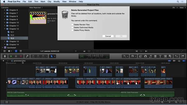 Managing transcoded and render files: Final Cut Pro X 10.2 Essential Training