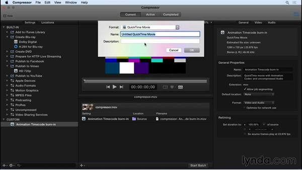 Working with Compressor: Final Cut Pro X 10.2 Essential Training