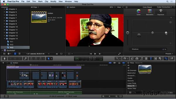 Working with Motion: Final Cut Pro X 10.2 Essential Training