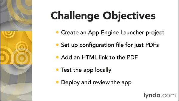 Using the challenges: Google App Engine Essential Training