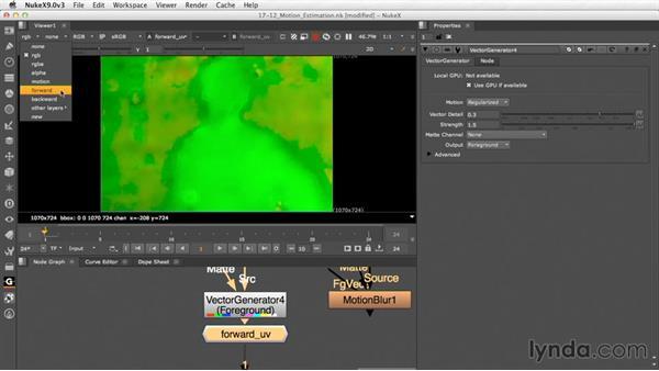 Motion estimation (NukeX): Nuke Essential Training