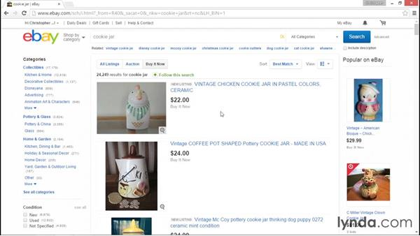 Search basics: eBay for Sellers Essential Training